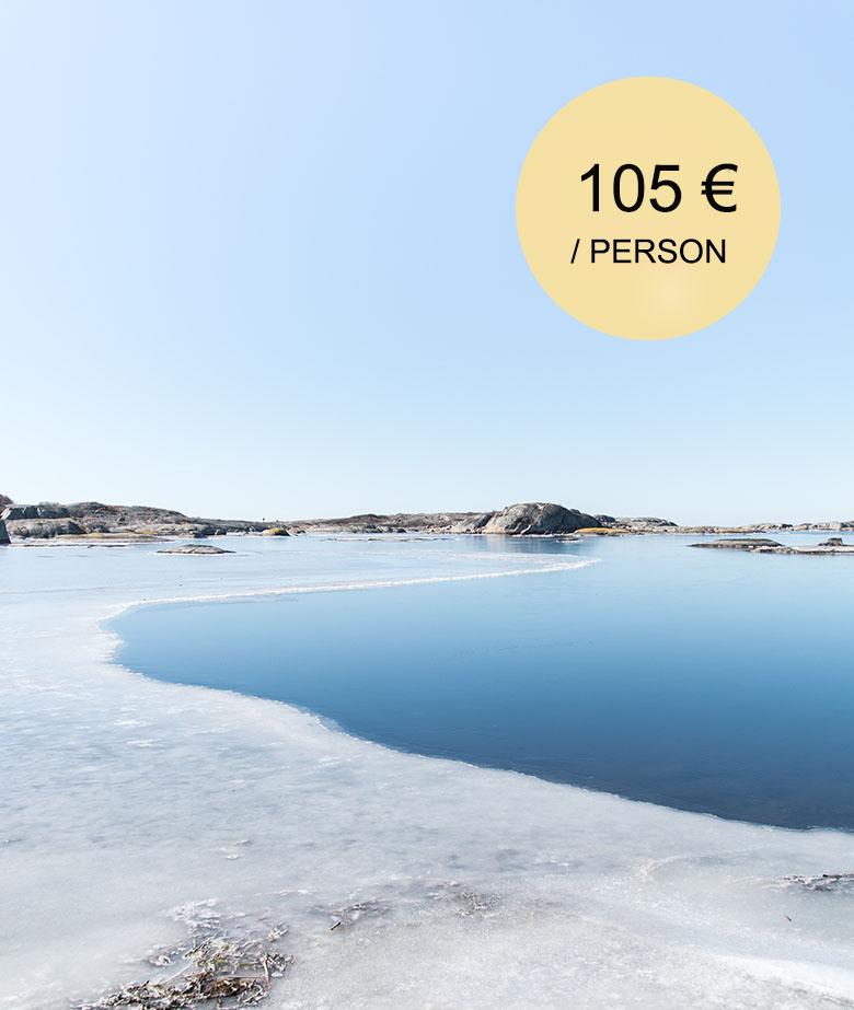 winter day trip to archipelago from helsinki