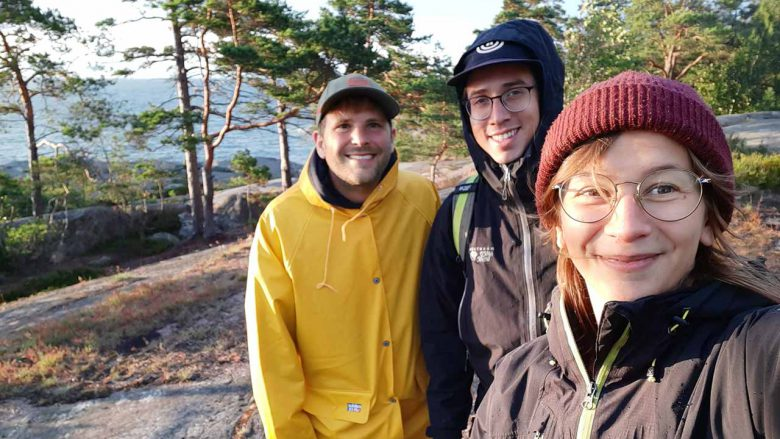 guest and guides during archipelago camping trip