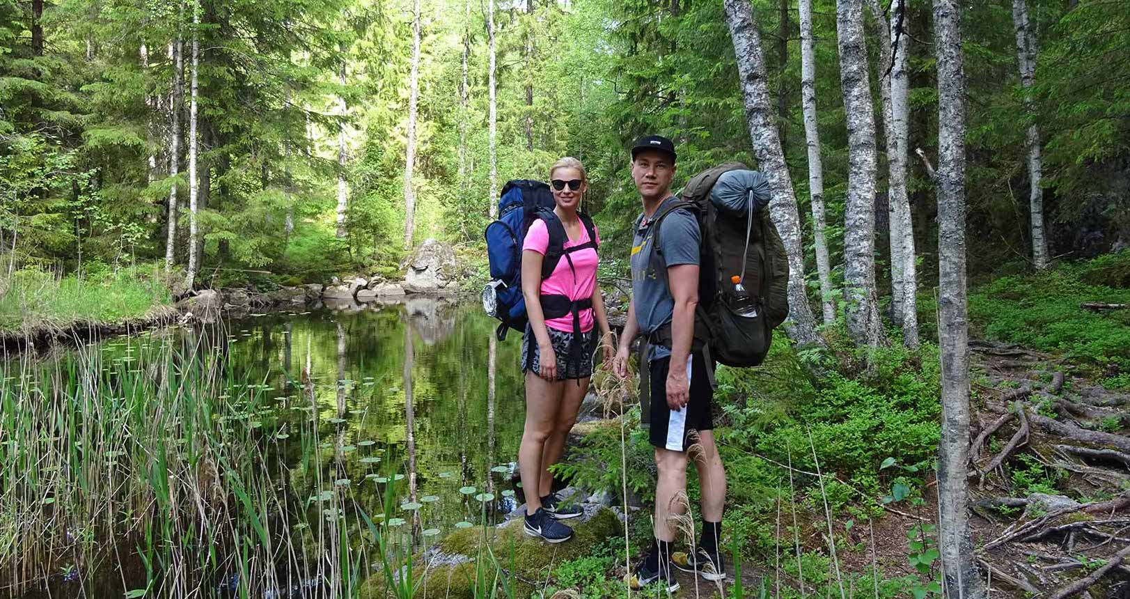 Hiking in a Finnish national park