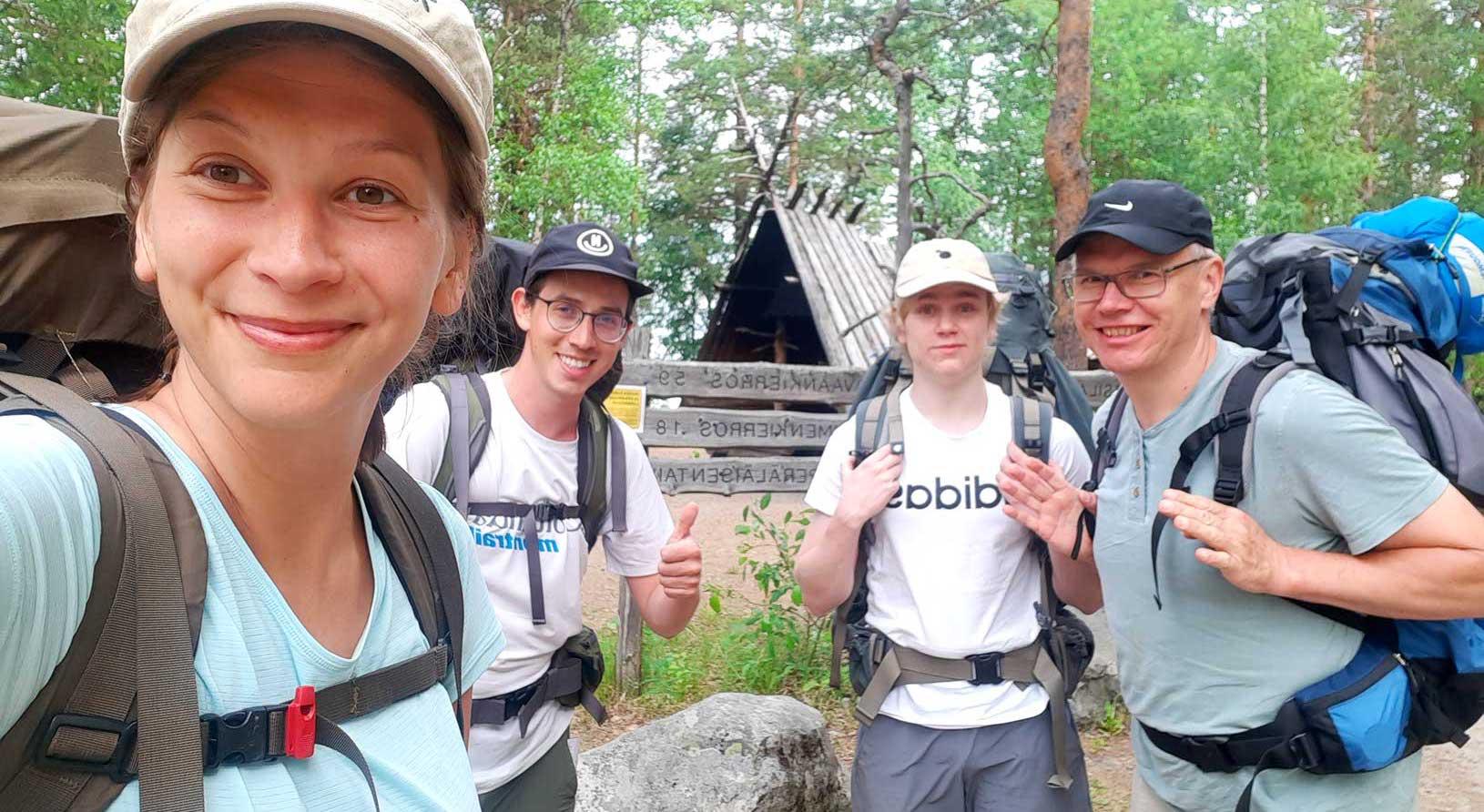 selfie before hiking trip