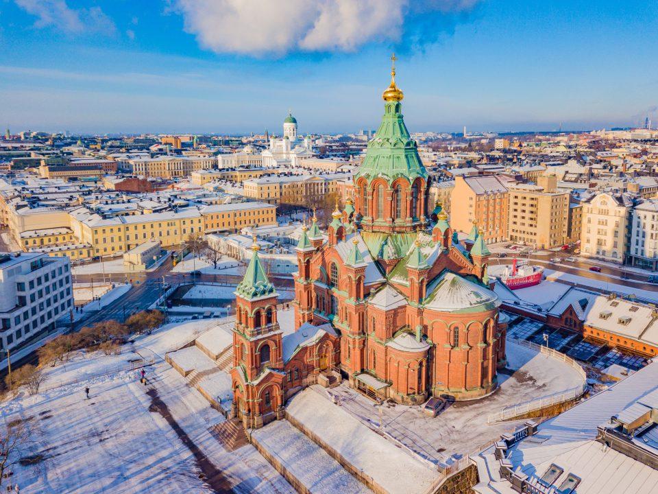 Big red church in Helsinki