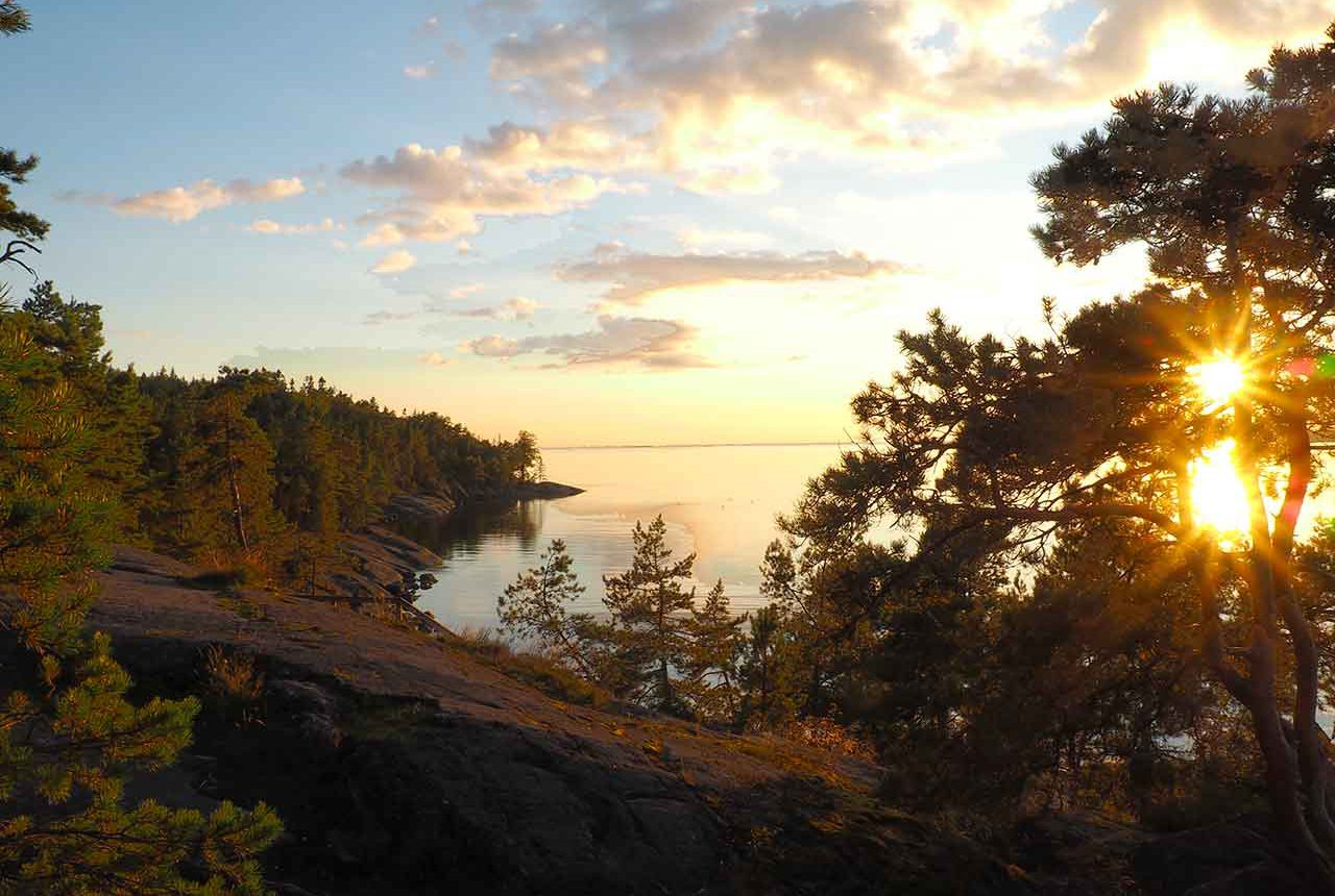 midnight sun in the finnish archipelago