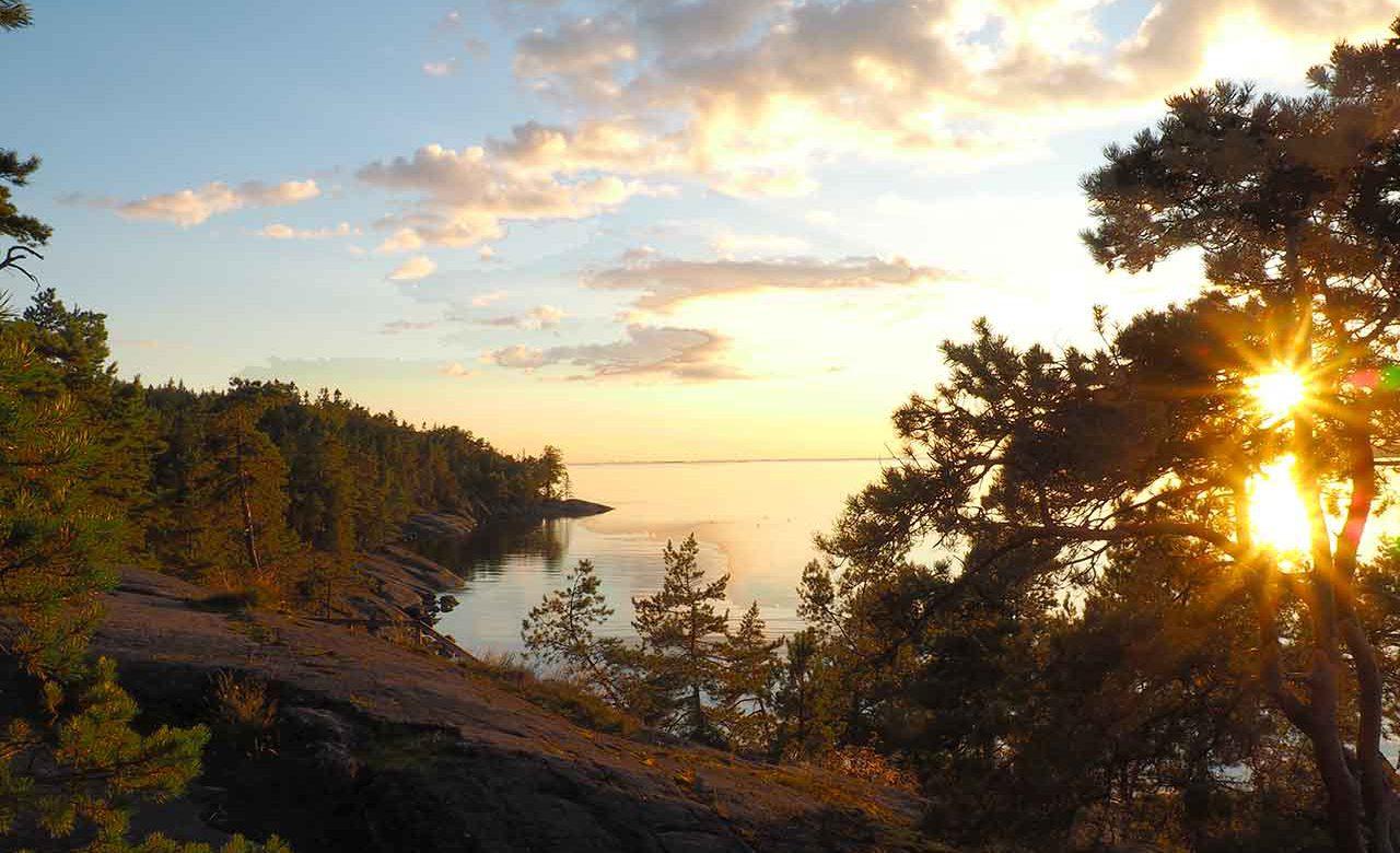 midnight sun in the finnish archipelago