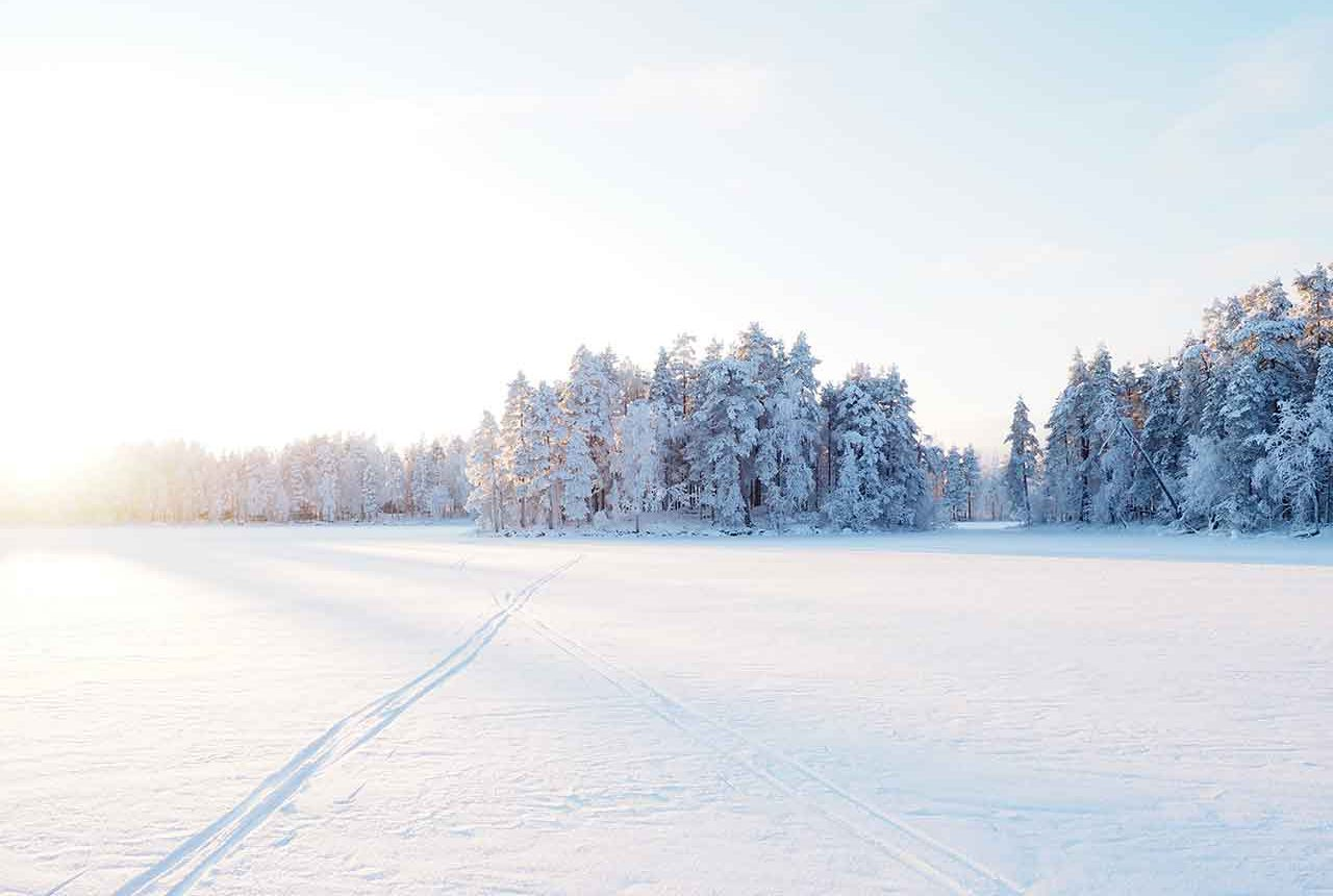 winter landscape finland