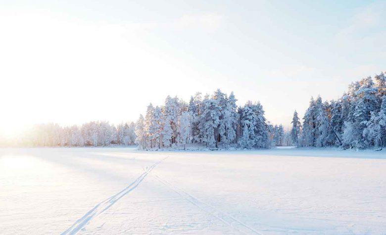 winter landscape finland