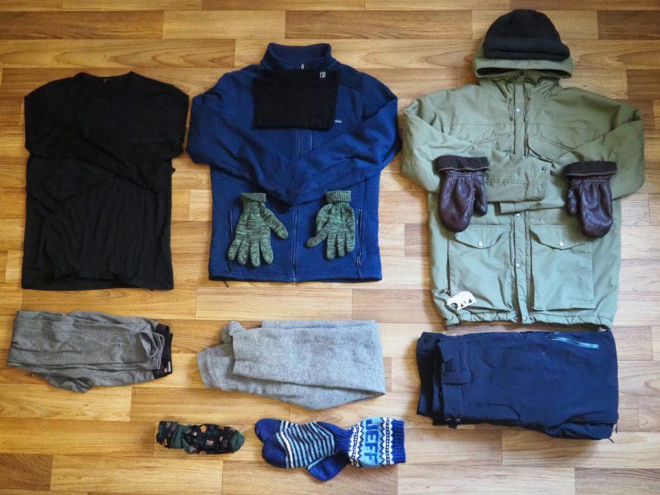 Winter Camping and clothing blog photo