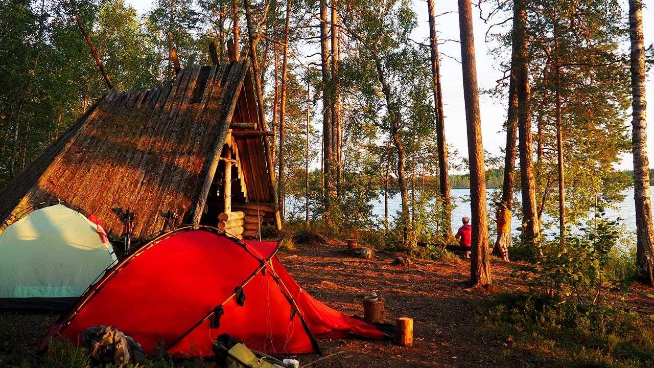 camping tour in finland national park