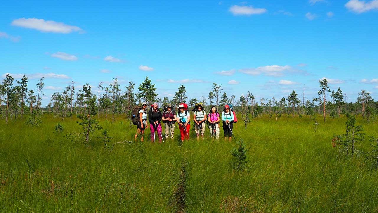 hiking tour in finland national park